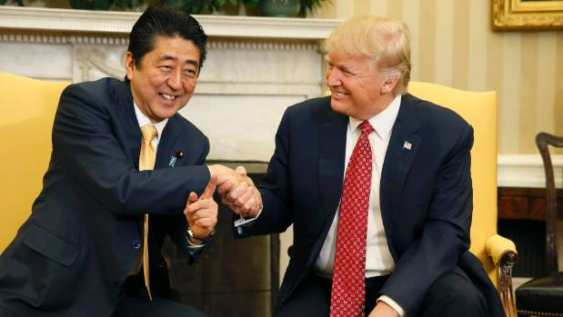 Japanese Prime Minister Shinzo Abe and US President Donald Trump get on well on a personal level