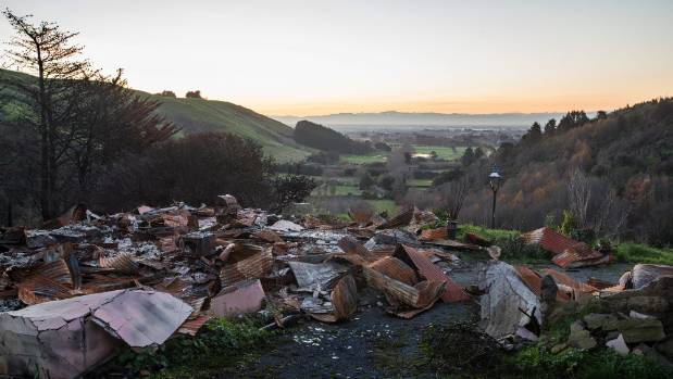 Five months on from the Port Hills fires, destroyed family homes are scattered among the affected valleys.