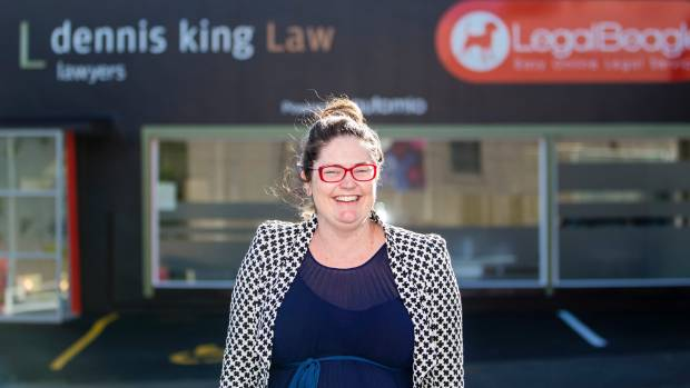 Claudia King and her father Dennis developed the idea of Automio to take the workload off lawyers. (File photo)