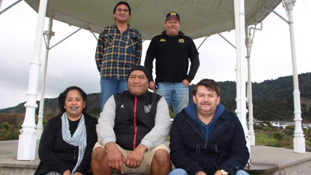 Bikes Up group members   from left, back, Osborne Rewha and Harvey Lovegrove, and from left, front, Hera Poutai, Tama ...