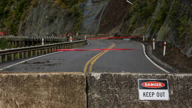 No way through. The Manawatu Gorge road is now considered unsafe for repair works and will remain closed indefinitely.