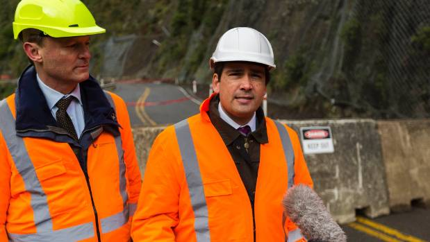 Transport Minister Simon Bridges tackling questions on the gorge route's uncertain future.