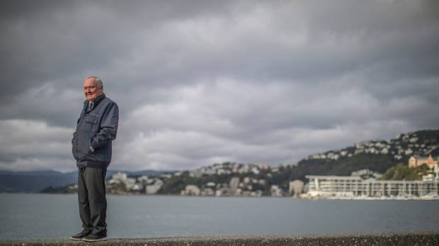 Former Wellington Harbourmaster Captain Mike Pryce on the Wellington waterfront.