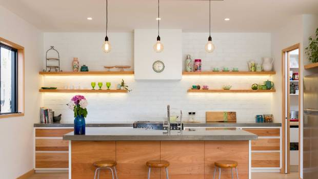 Pendants above a kitchen island provide good task lighting