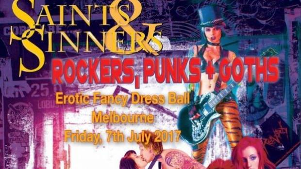 Part of the flyer for the Saints and Sinners erotic ball at Inflation nightclub.