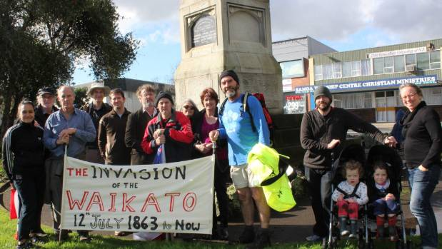 A hikoi to remind Aucklanders of the Waikato War.