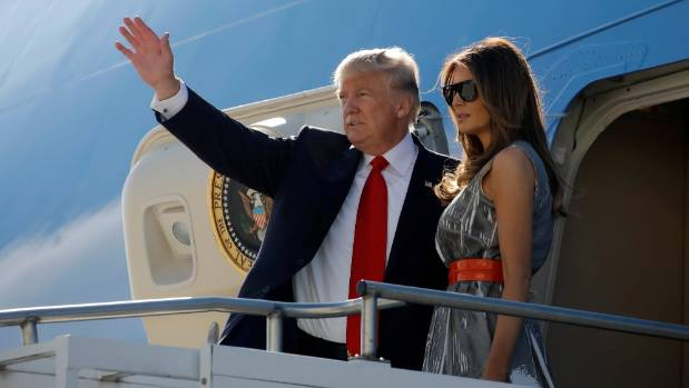 US President Donald Trump and first lady Melania Trump are back at the White House