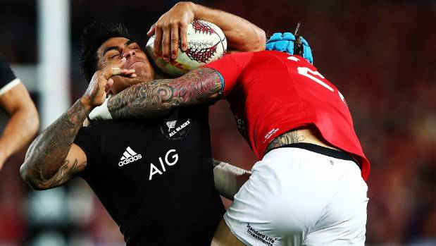 The All Blacks struggled to unlock the rush defence of the British and Irish Lions.