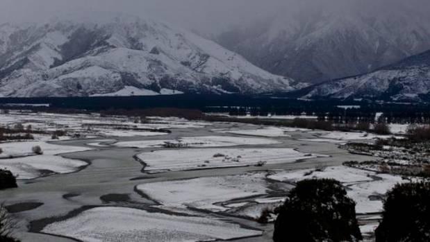 Snow covers Hanmer Springs in 2013.