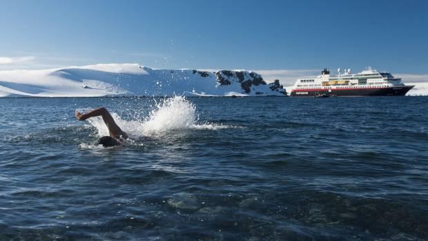 Swimming at Half Moon Island.
