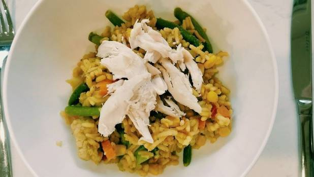 This chicken and rice risotto cost $1.62 per serving.