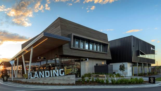 The Landing at Wigram Skies, Christchurch.