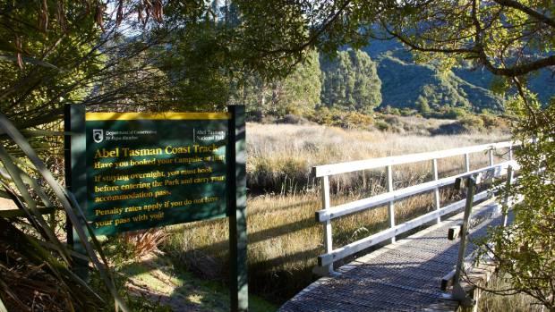 The entrance to Aotearoa's very own Abel Tasman Coast Track