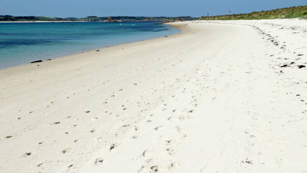 But Cornwall's not all rugged cliffs, heather and gorse - this is the beach at St Martin's, Isles of Scilly.