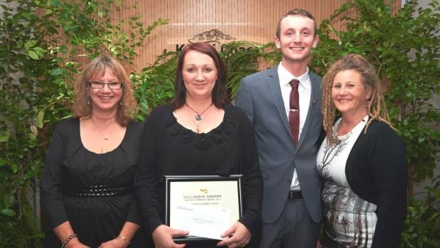 Te Ara Korowai staff Kamila Gay, Lisa Archibald, Daniel Panter and Kathy Lyall.