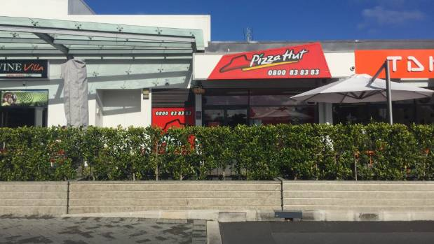 The order was placed at this Pizza Hut store in Kelston.