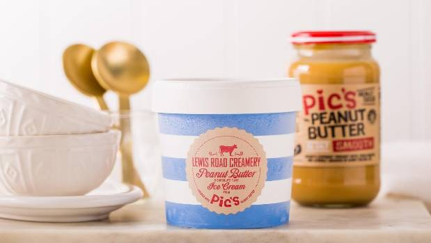 Pic's Peanut Butter has partnered with Lewis Road Creamery to create a peanut butter ice cream.