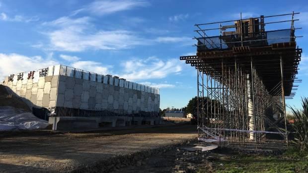 The beams go on the Ryburn Rd/railway bridge in mid-July