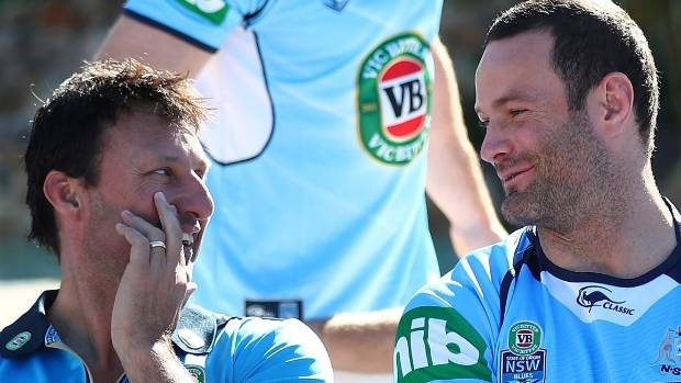 Coach Laurie Daley and captain Boyd Cordner - who's asked Daley to remain at the helm.