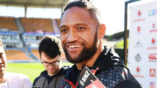 Manu Vatuvei fronts the media following his decision to leave the Warriors for UK club Salford.