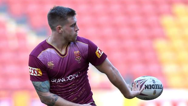 Cameron Munster takes over at five-eighth from Johnathan Thurston for Queensland.
