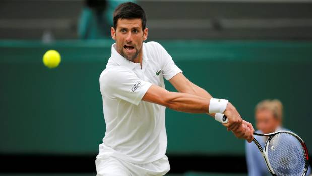 Novak Djokovic grooved into the quarterfinals at Wimbledon after winning his delayed fourth-round match in straight sets.