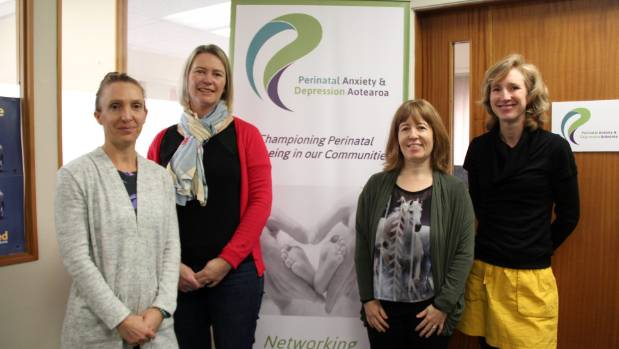 Eve Southan (far left) is taking on her first ever ultramarathon in aid of Perinatal Anxiety & Depression Aotearoa (PADA).