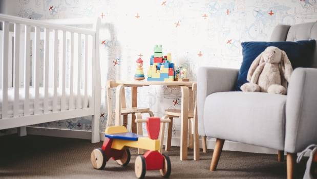 The most important element in any nursery or bedroom is the feature wall, says Chaz.