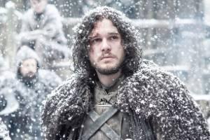 Jon Snow, in the snow.