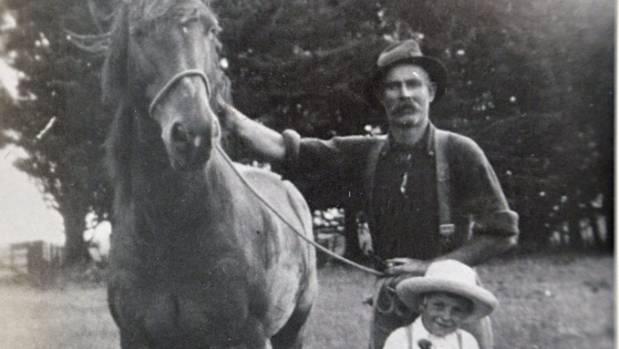 Grandfather Hugh Duckett and son Bob Duckett.