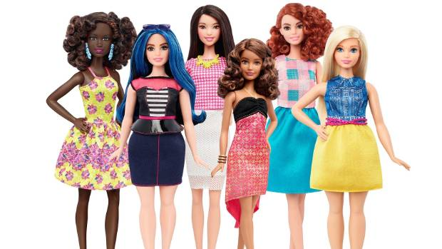 Barbie comes in all shapes, sizes and ethnicities now.