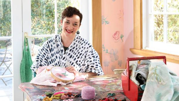 Self-taught stitch artist extraodinaire Fleur Woods might look like sugar and spice but she likes to embroider to hip-hop.