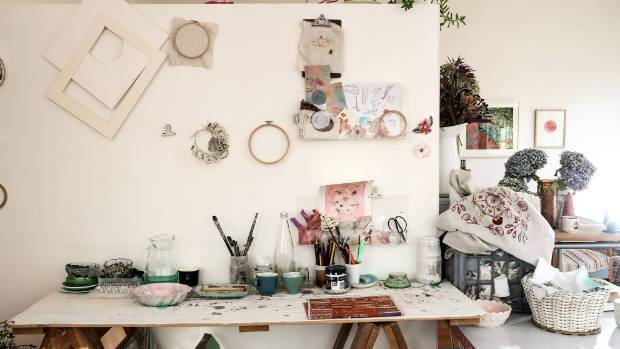 Woods' studio-gallery in Upper Moutere village is a sunny former post-office filled with vintage finds and good vibrations.