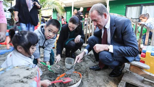 Labour leader Andrew Little playing 'the same but different' with National on family policy.