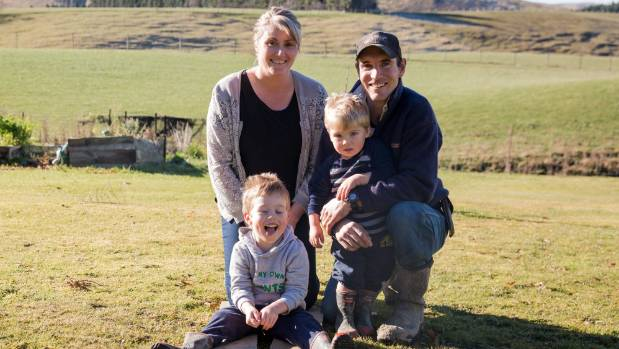 Jane and John Harrison with their sons, Ryan, 4, and Lochie, nearly 2.