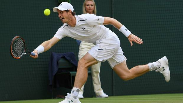 Andy Murray who was hampered by a hip injury was on the run against American Sam Querrey in their quarterfinal at the