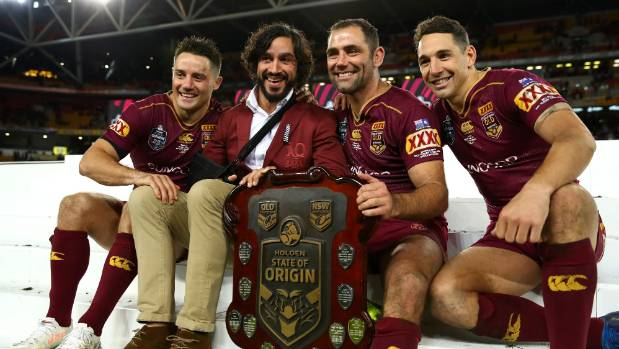 Queensland's Johnathan Thurston bowed out of State of Origin on Wednesday, but will Cooper Cronk (left), Cameron Smith ...
