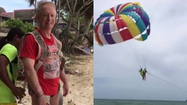 parasailing in Thailand accident