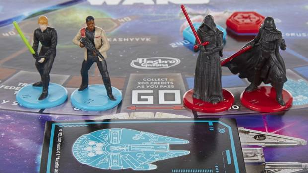 Boy's club: the latest iteration of the Star Wars monopoly game is pretty blokey. And likely to stay that way.
