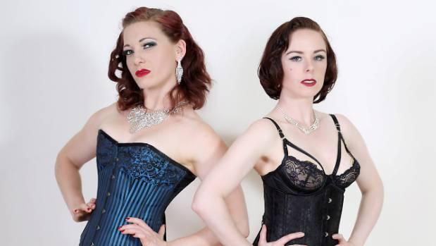 The Ballet School Dropouts burlesque dancers Trillian (aka Lauren Ashton) and Dahlia Dangerous (Stacey Hayes)