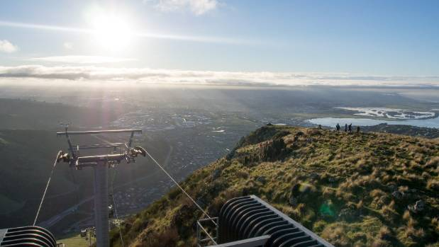 The gondola provides spectacular views of Christchurch and easy access into the Port Hills.