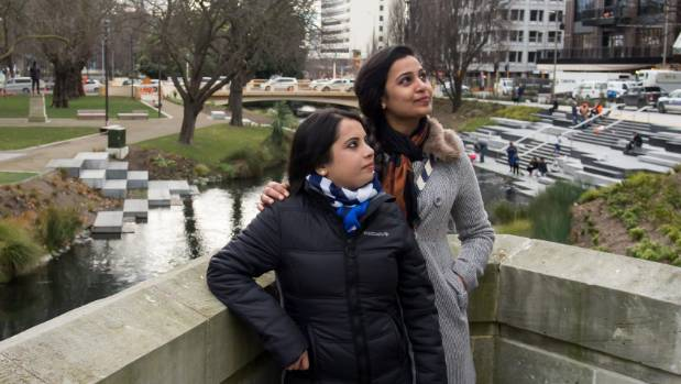 Shalini Gaur, visiting from New Delhi, India, is being shown around the city by sister-in-law Virgin Dabhi, who has ...