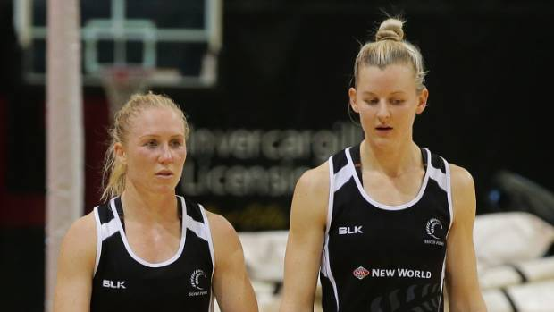 Laura Langman, left, was a trusted Silver Ferns ally for skipper Katrina Grant.