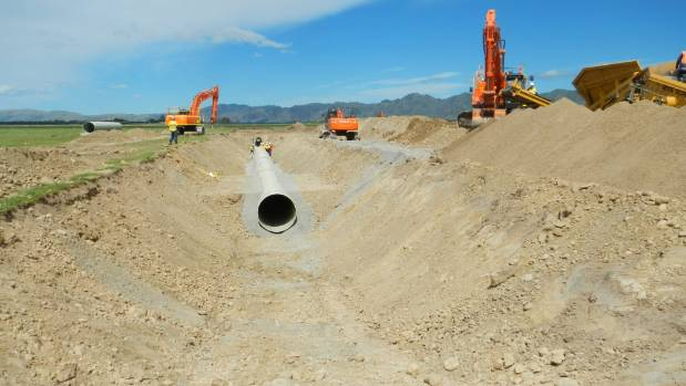 The Amuri Irrigation Scheme pipe project is on track to be completed in September.