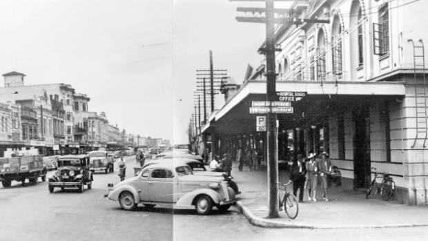 The Hamilton Hotel site has historically been a hub for the city. This photo was taken in the 1940s and is part of the ...