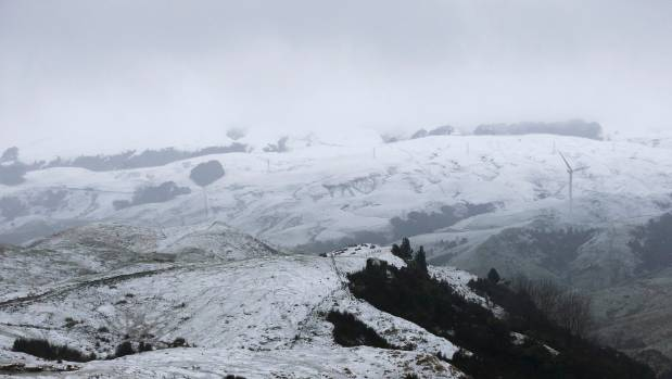 Snow fell across much of the country, including in the Tararua ranges.