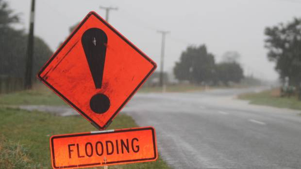 Water has flooded across some roads in south and coastal Taranaki. (file photo)