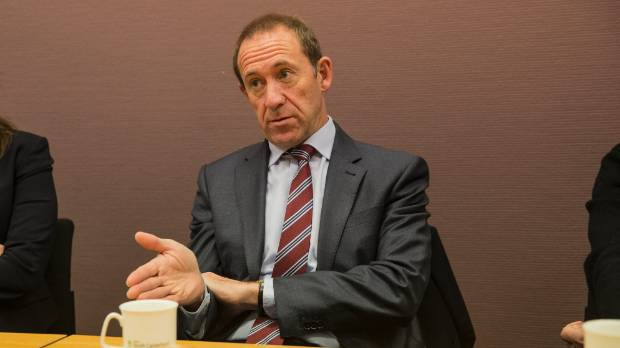 Labour leader Andrew Little speaks to stakeholders in Timaru on Thursday.