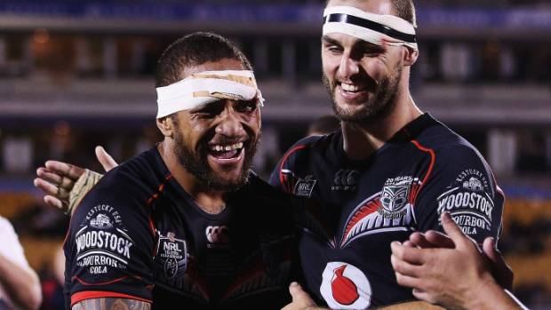 Manu Vatuvei and Simon Mannering first played together for the Junior Kiwis in 2004.