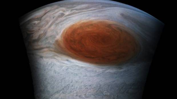 NASA captures stunning close-up photos of Jupiter's Great Red Spot
